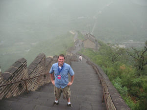 will dudziak hiking the great wall of china