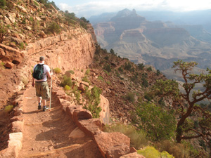 will dudziak hiking in the grand canyon