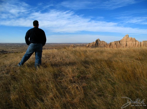 Chad, taking in the incredible views of the South Dakota Badlands.