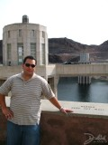 Chad and the Hoover Dam Intake Tower, Hoover Dam, AZ/NV