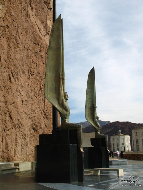 Picture of the Hoover Dam memorial on the Arizona side of the Colorado River.