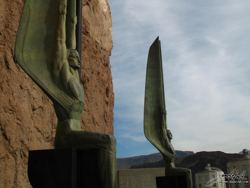 Winged Figures of the Republic, created by Oskar J.W. Hansen for the Hoover Dam Memorial.