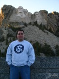 Chad in front of Mt. Rushmore, Mt. Rushmore, SD