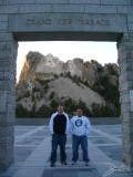 Me and Chad on the Grand View Terrace at Mt. Rushmore, Mt. Rushmore, SD