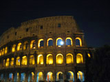 Colosseum at Night with Moon