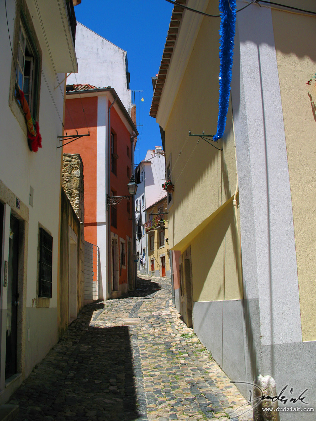 Lisbon has some great colorful winding back streets near the Castelo de Sao Jorge.