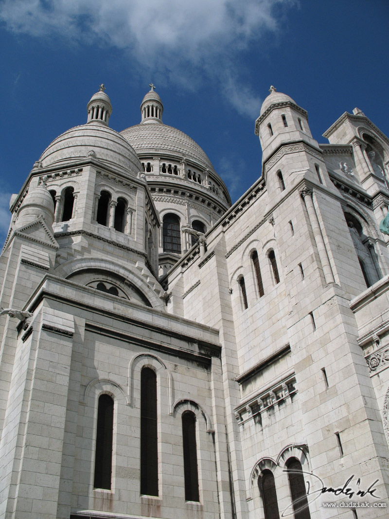 Picture of the Sacre Coeur in Paris, France.  This shot was taken just to the left of the main enterence.
