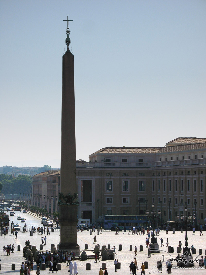 Saint Peter's Square obelisk in the Vatican City