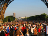 Under the Eiffel Tower on Bastille Day