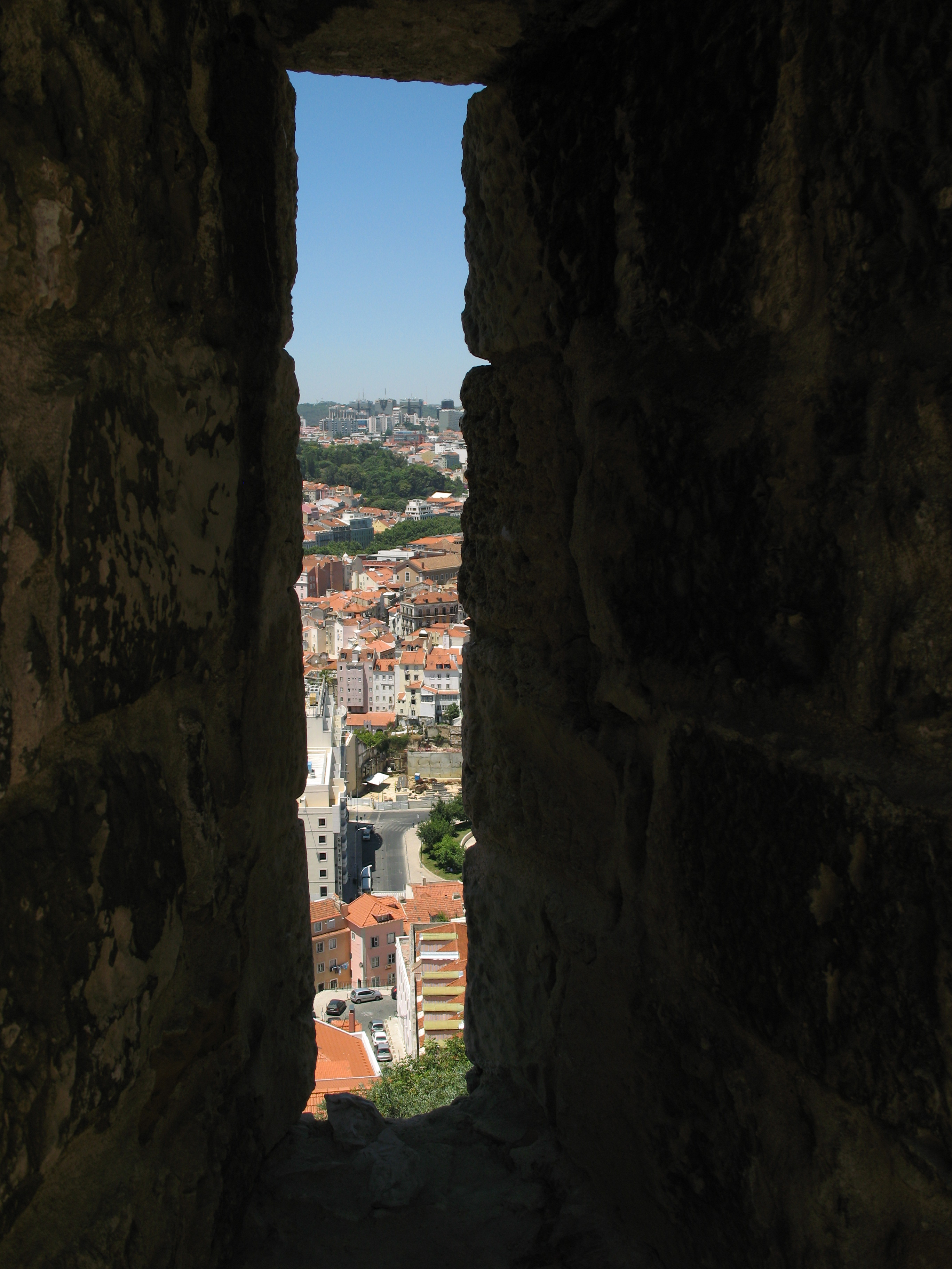 Castle of Saint George,  Loophole,  Lisbon Portugal,  Castle Walls,  Embrasure,  Castelo São Jorge,  Arrowslit,  Lisboa