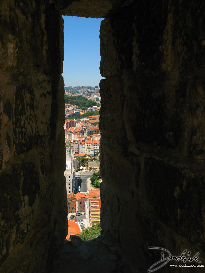 Lisbon Portugal,  Castle of Saint George,  Embrasure,  Castelo São Jorge,  Castle Walls,  Loophole,  Lisboa,  Arrowslit