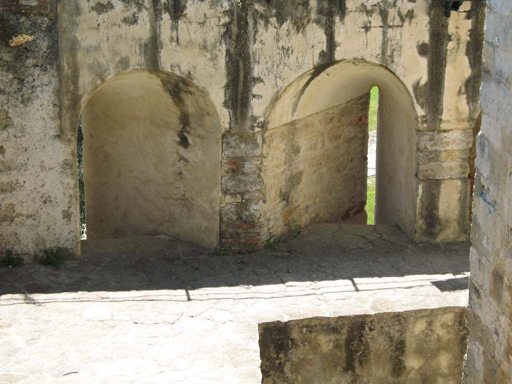 Castelo São Jorge,  Loophole,  Castle Walls,  Embrasure,  Castle of Saint George,  Lisboa,  Lisbon Portugal,  Arrowslit
