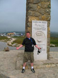 Me Standing at the Farthest West Point in Continental Europe, Lisbon, Portugal