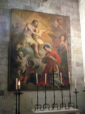 Painting Inside the Lisbon Cathedral, Lisbon, Portugal
