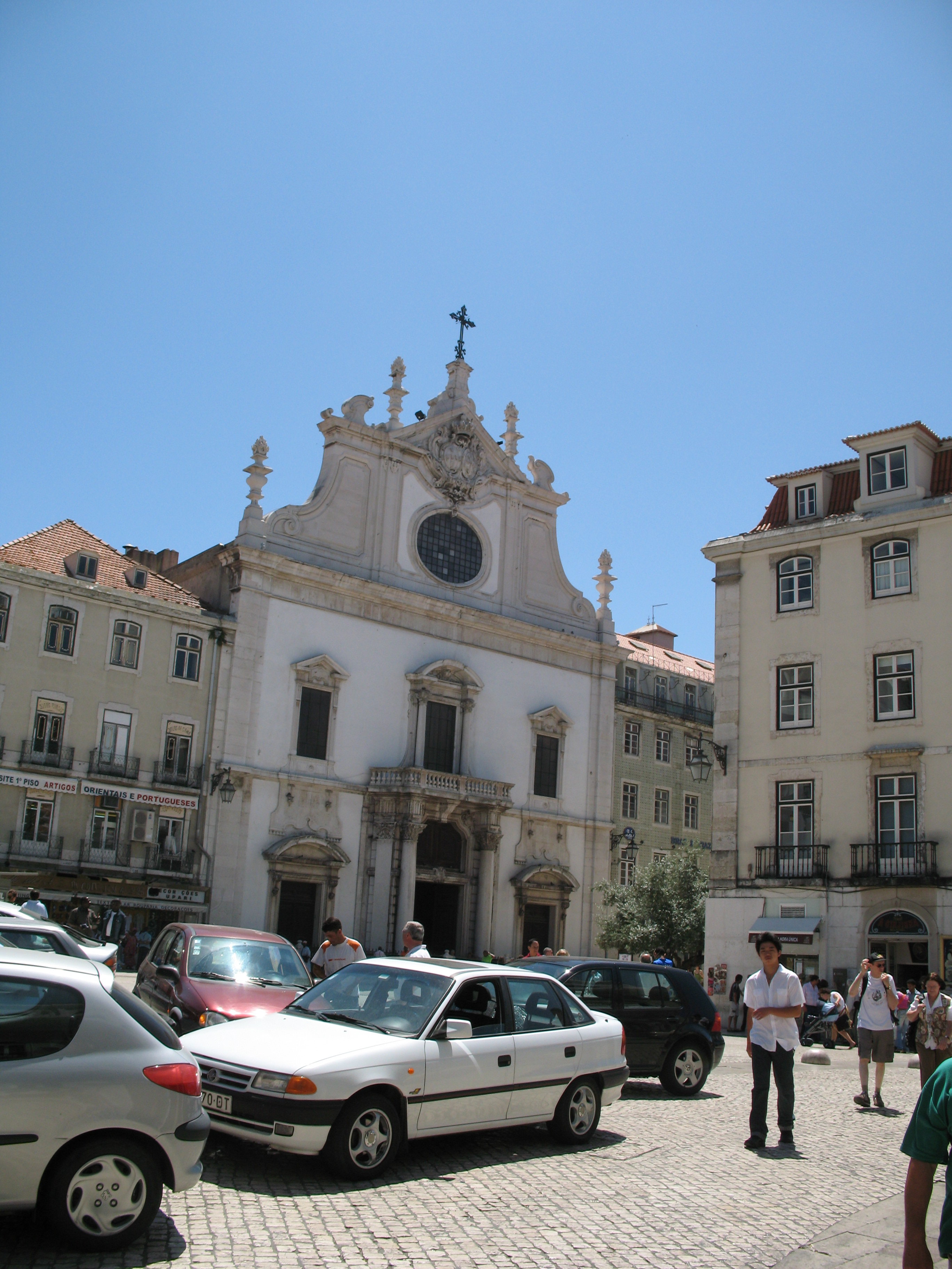 church,  street,  lisbon portugal
