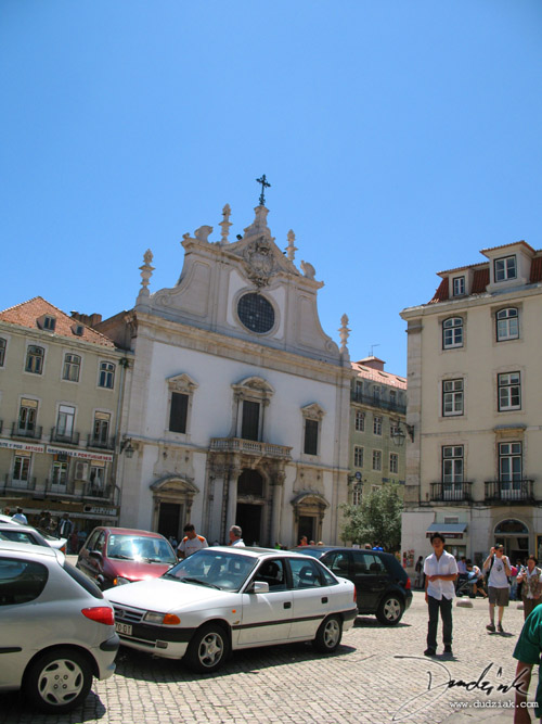 street,  church,  lisbon portugal