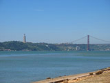 Tagus River with Cristo Rei and Ponte 25 de Abril