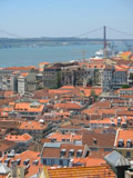 View of the Tagus River from Castelo São Jorge, Lisbon, Portugal