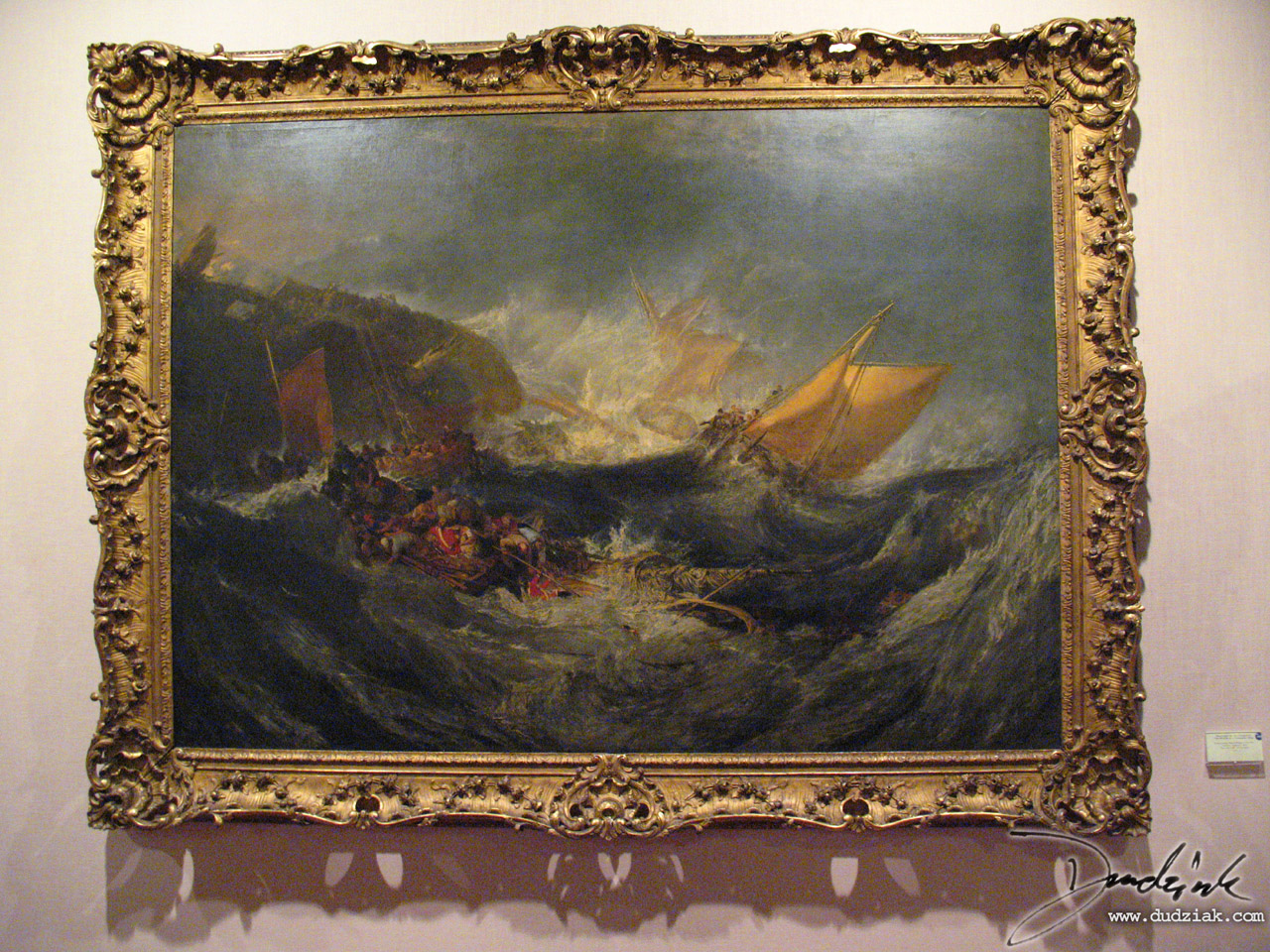 Calouste Gulbenkian Museum,  Museu Calouste Gulbenkian,  Lisboa,  Joseph Mallord William Turner,  Lisbon Portugal,  The Wreck of a Transport Ship