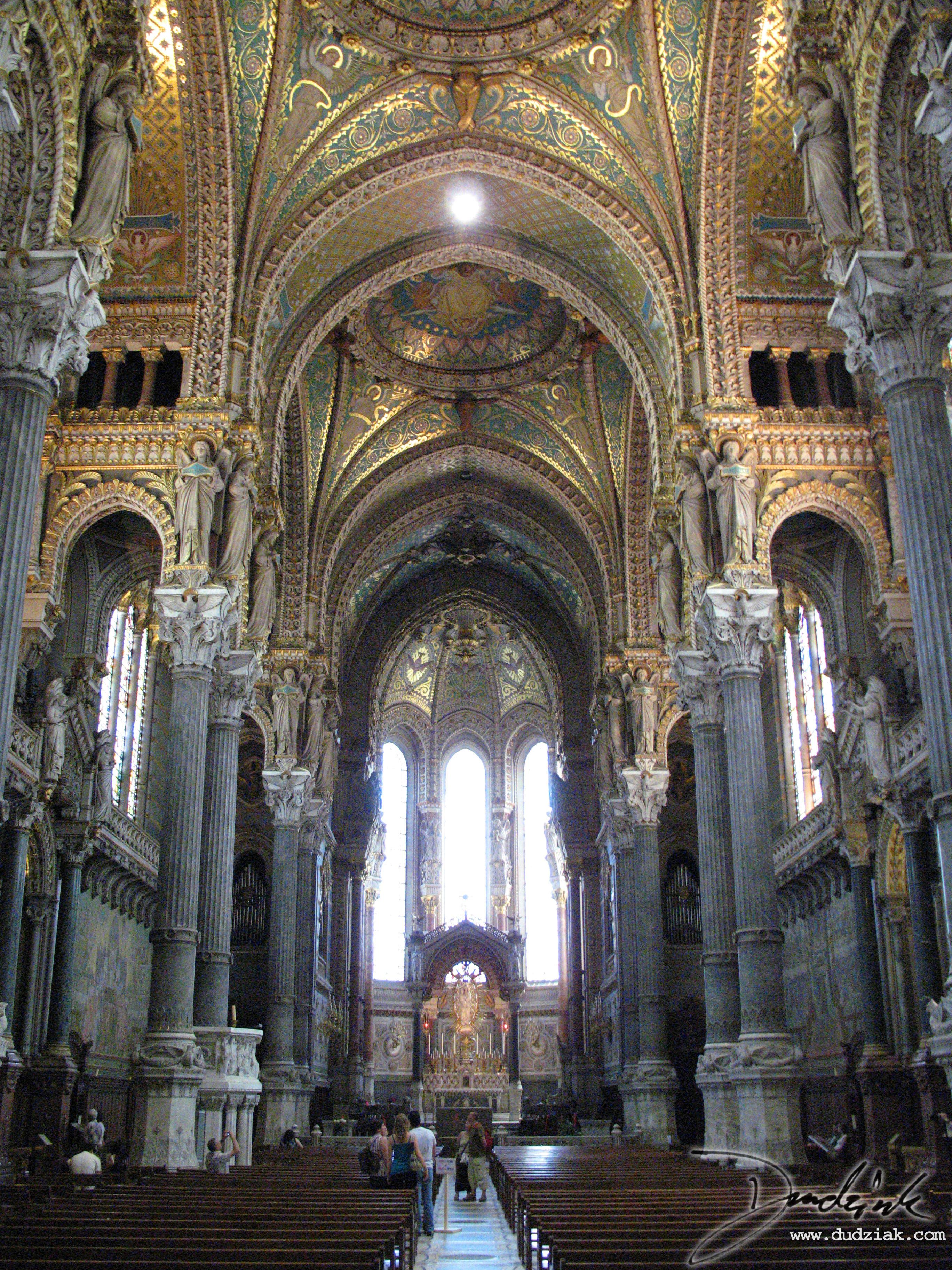 inside basilica notre dame de fourvi u00e8re  lyon  france