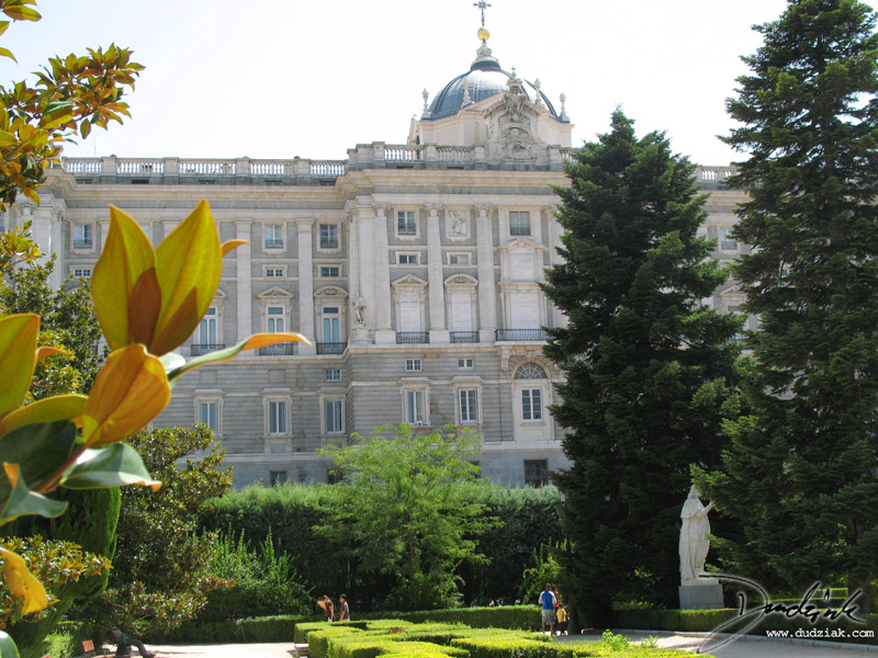 Spanish Royal Palace,  spanish royal gardens,  Madrid