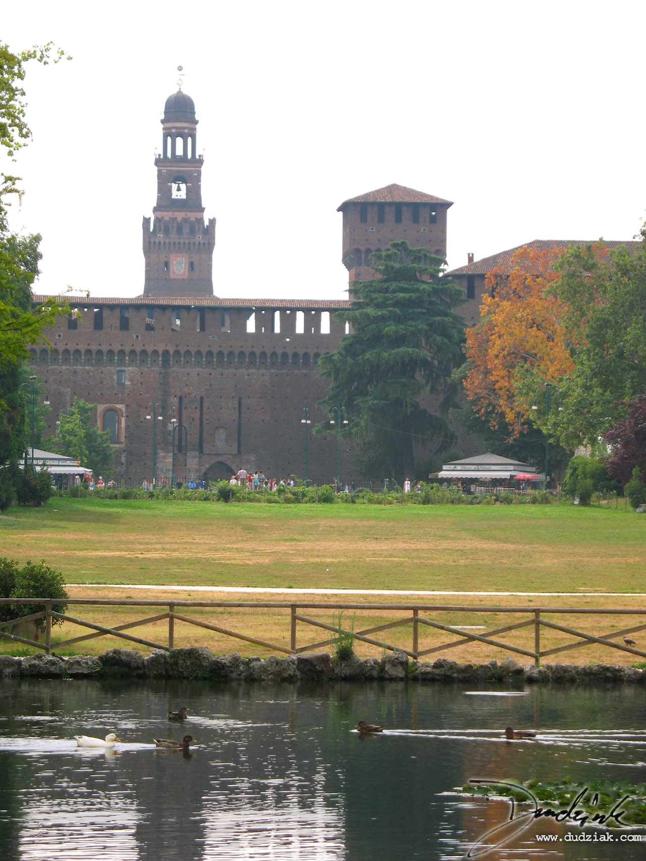 Picture of Castello Sforzesco (Sforzesco Castle) in Milan Italy.