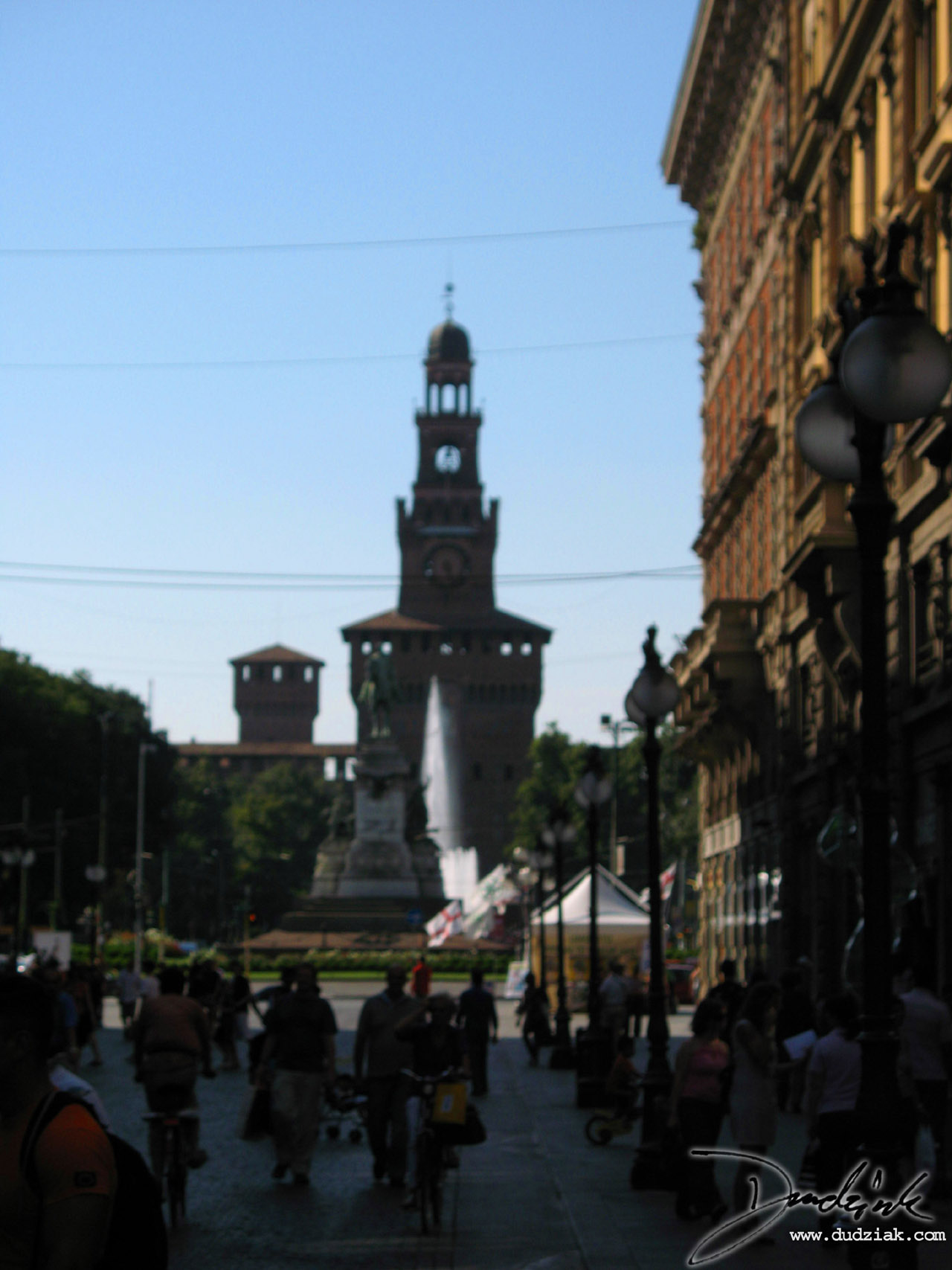 Picture of the Southeast enterence to Castle Sforzesco in Milan, Italy
