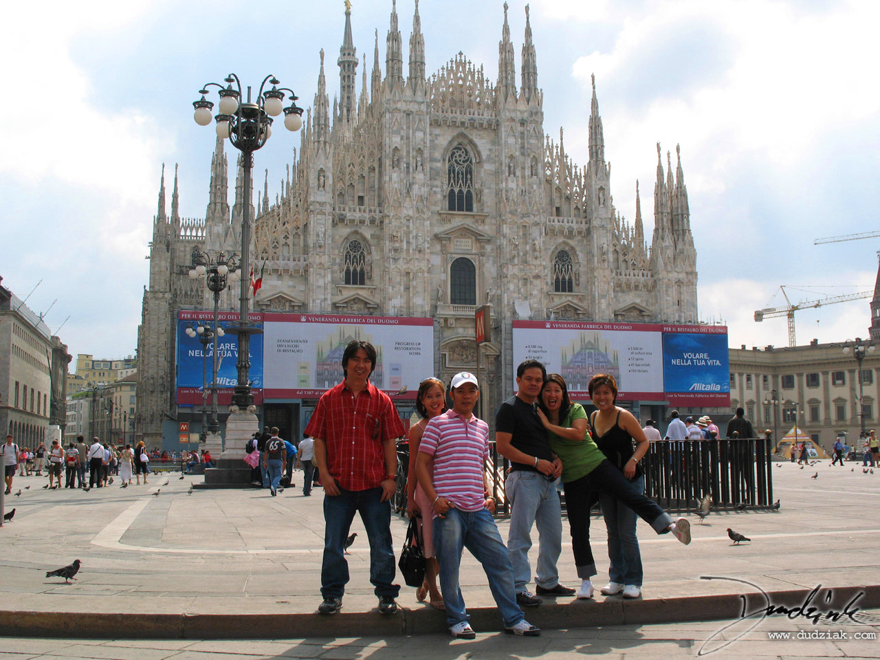 The Filipino friends I made in Milan posing in the Piazza del Duomo in front of the Cathedral of Milan