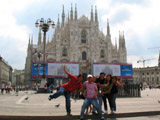 Filipino Friends in front of Cathedral of Milan, Milan, Italy