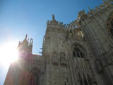 Cathedral of Milan in the Sun, Milan, Italy