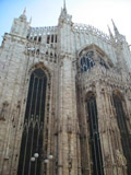 Cathedral of Milan, Rear View, Milan, Italy