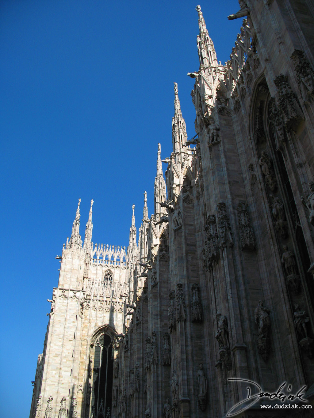 Picture of the side of the Cahtedral of Milan