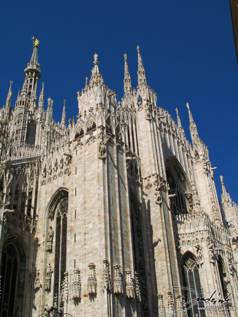 Picture of the side of the Cathedral of Milan