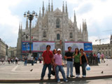 Philipino Friends in front of Cathedral of Milan, Milan, Italy