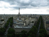 Eiffel Tower and the City of Paris as Seen from the Arc de Triomphe