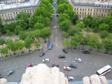 Looking Down from the Arc de Triomph