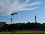 French Helicopter with Eiffel Tower in the Distance