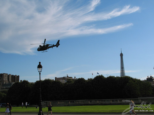 Helicopter,  Quatorze Juillet,  Paris,  Eiffel Tower,  French Military