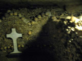 Arrangement of Skulls with a Cross, Paris Catacombs