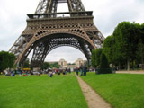 Base of the Eiffel Tower from the Champ de Mars