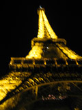 Blurry Eiffel Tower at Night