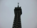 Blurry Top of the Eiffel Tower