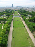 Champ de Mars from First Level of Eiffel Tower