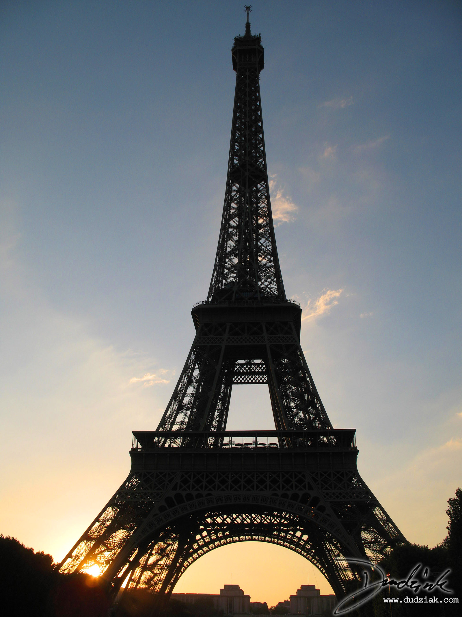 Tour Eiffel,  Eiffel Tower,  Paris France,  Sunset