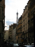 Eiffel Tower from Streets of Paris