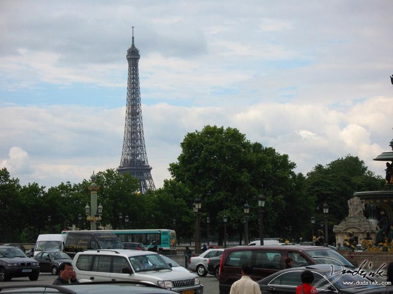 eiffel tower,  streets,  Paris