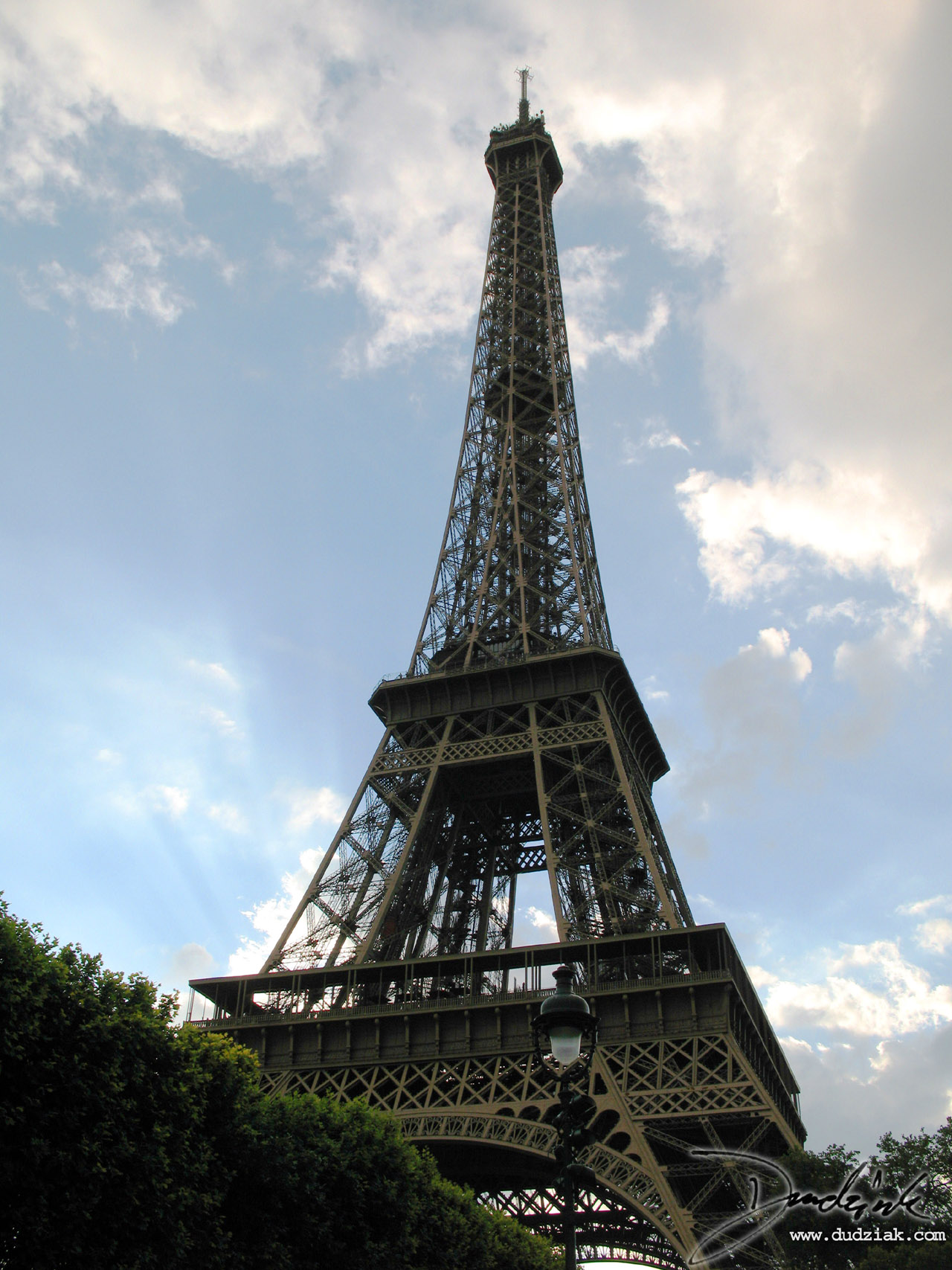 Eiffel tower,  Sunny,  Paris France,  Sunshine,  Clouds,  Tour Eiffel