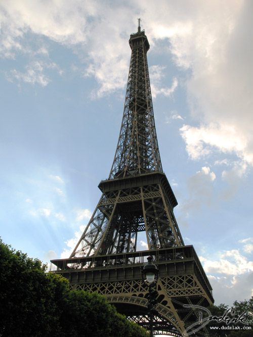 Paris France,  Eiffel tower,  Sunshine,  Sunny,  Clouds,  Tour Eiffel