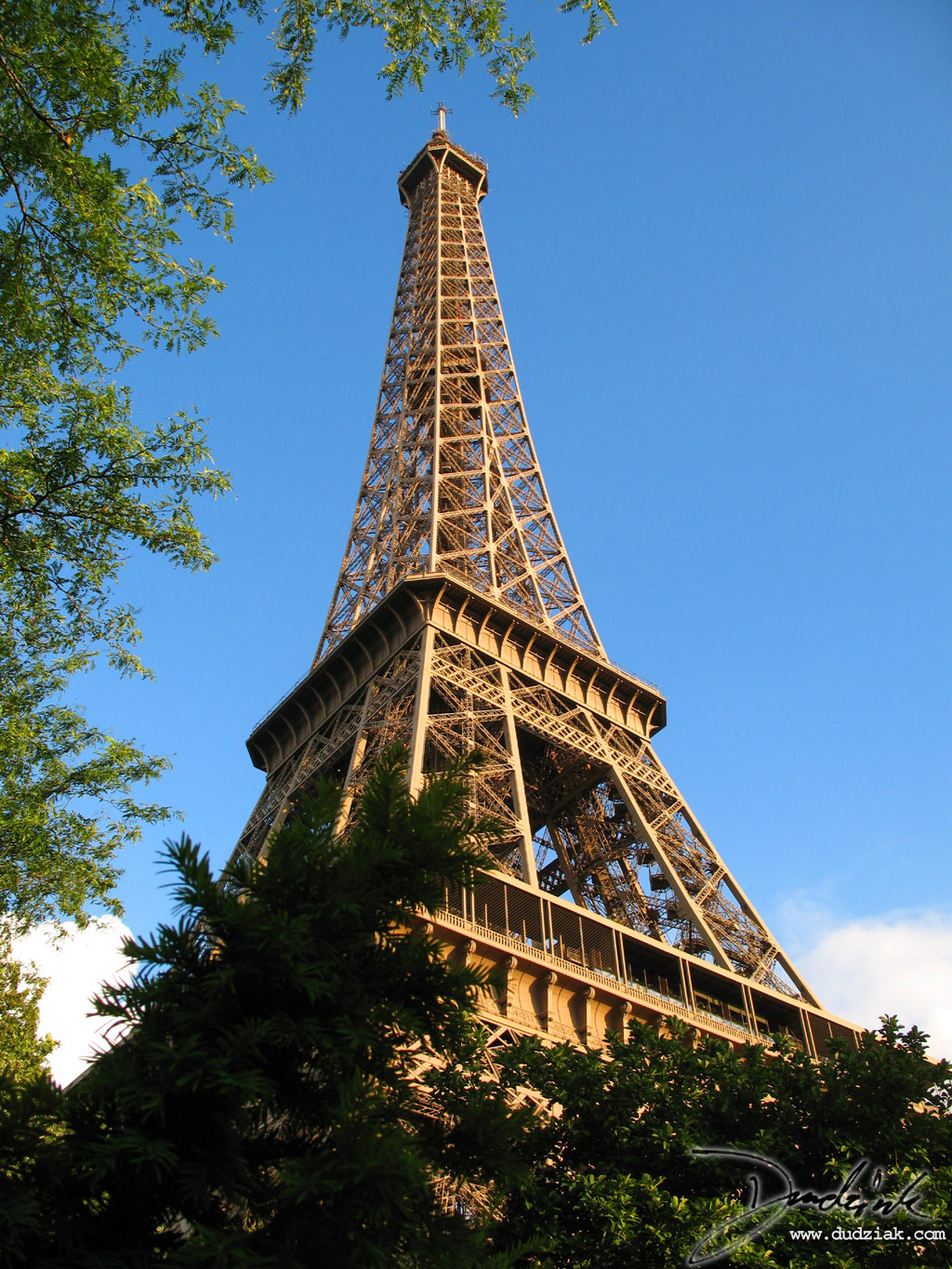 Tour Eiffel,  Blue Sky,  Trees,  Eiffel Tower