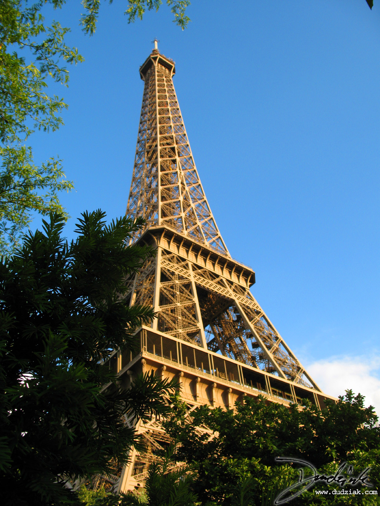Eiffel Tower,  Blue Sky,  Trees,  Tour Eiffel